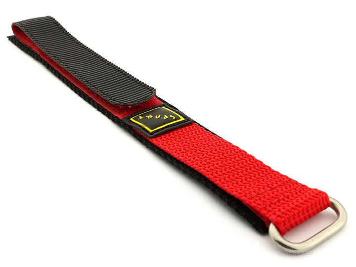 Hook & Loop Watch Strap Nylon Red Sport 01