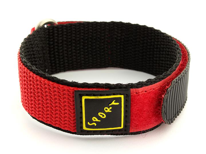 Hook & Loop Watch Strap Nylon Red Sport 02