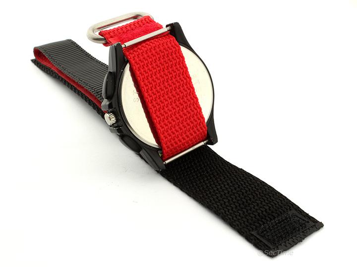 Hook & Loop Watch Strap Nylon Red Sport 03