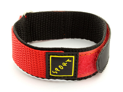 Hook & Loop Watch Strap Sport, Nylon Orange 16mm