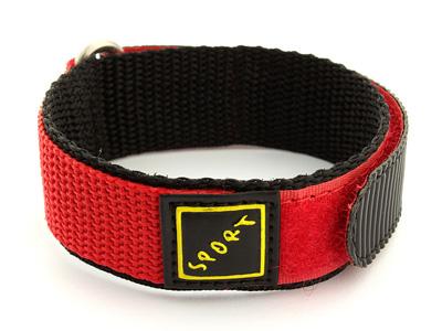 Hook & Loop Watch Strap Sport, Nylon Red 16mm