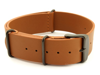 Leather Nato Strap PVD Brown 02