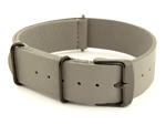 Genuine Leather Nato Watch Strap PVD Hardware Grey 20mm