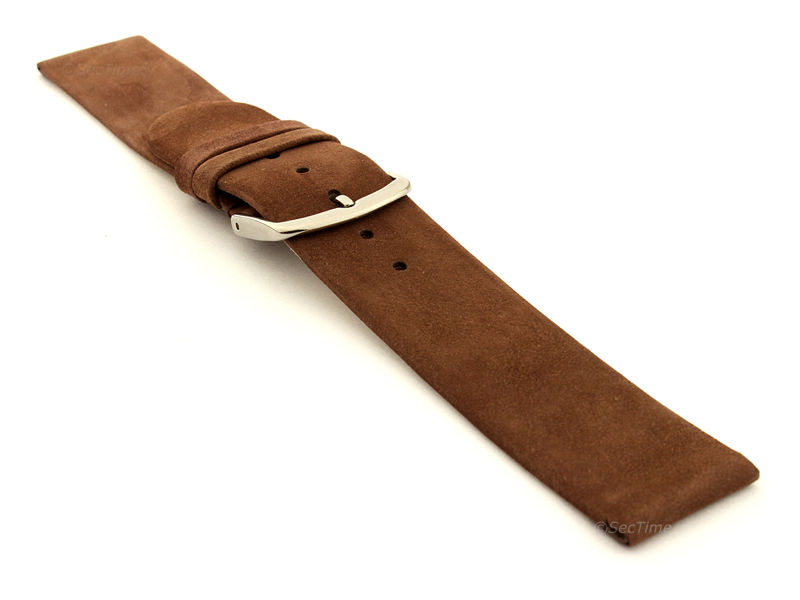Suede Genuine Leather Watch Strap Malaga Cocoa 03