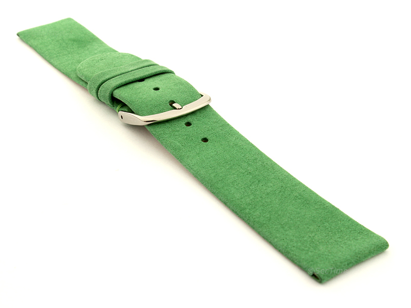 Suede Genuine Leather Watch Strap Malaga Green 03