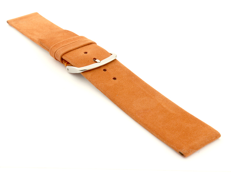 Suede Genuine Leather Watch Strap Malaga Orange 03