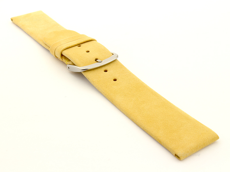 Suede Genuine Leather Watch Strap Malaga Yellow 03