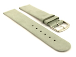 Suede Genuine Leather Watch Strap Malaga Grey 20mm