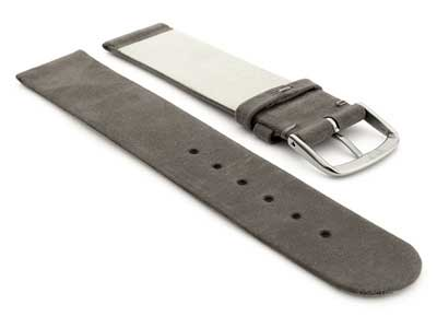 Suede Genuine Leather Watch Strap Malaga Coyote Grey 20mm