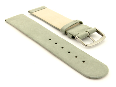 Suede Genuine Leather Watch Strap Malaga Grey 16mm