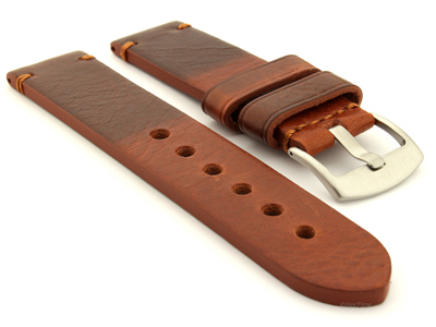 Two Tone Leather Watch Strap Maracana Brown 26mm
