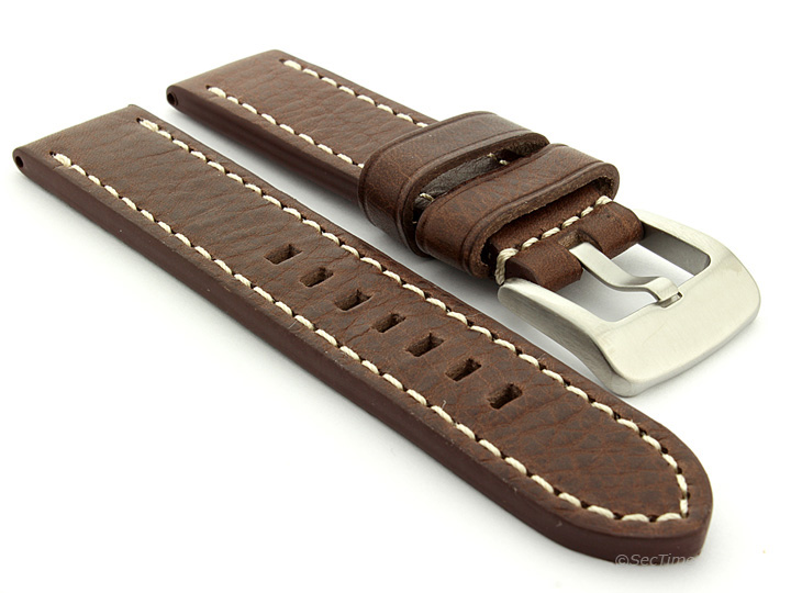 Men-039-s-Genuine-Leather-Watch-Strap-Band-Marina-Spring-Bars-SS-Buckle-Spring-Bars