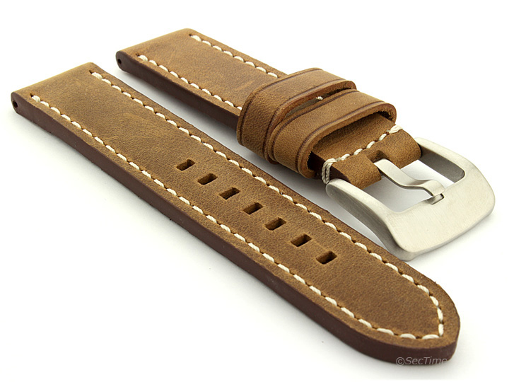 Mens-Genuine-Leather-Watch-Strap-Band-Marina-20mm-22mm-24mm-26mm-MM
