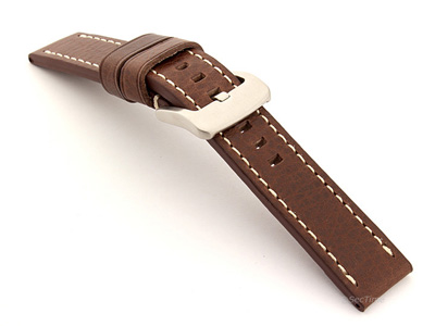 Leather Watch Strap Marina Brown 20mm