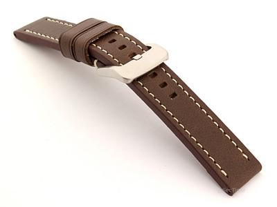 Leather Watch Strap Marina Dark Brown 20mm