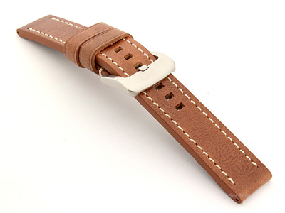 Leather Watch Strap Marina Gold Brown 20mm