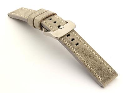Leather Watch Strap Marina Grey 20mm