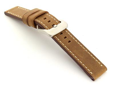 Leather Watch Strap Marina Matte Brown 20mm