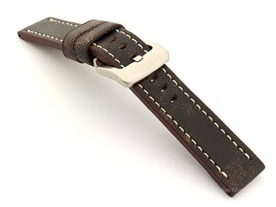 Leather Watch Strap Marina Retro Brown 20mm