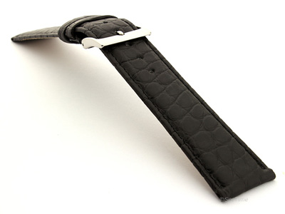 Genuine Crocodile Leather Watch Strap Miami CM Black 02