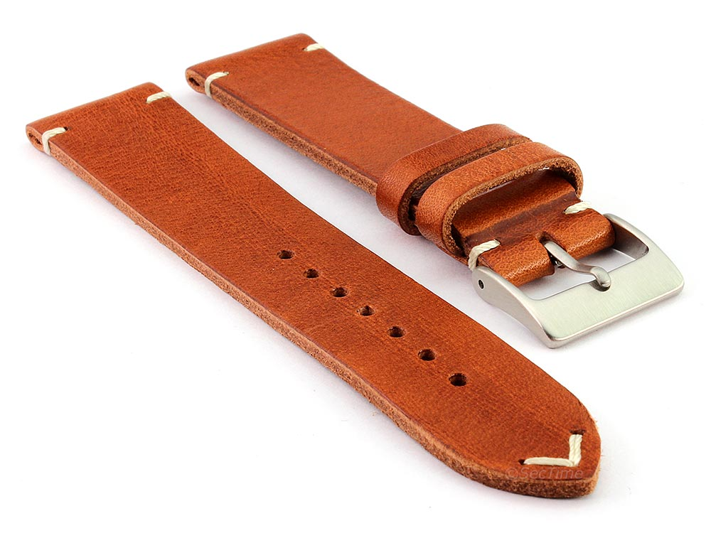 Genuine Leather Watch Strap Band Mirage Brown 01