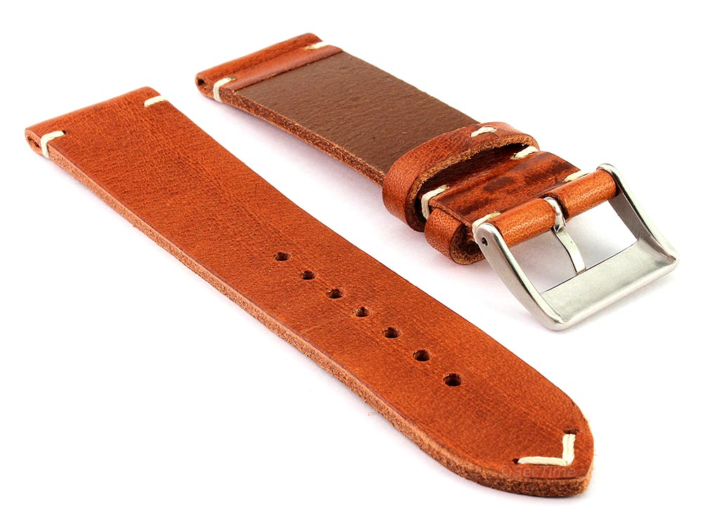 Genuine Leather Watch Strap Band Mirage Brown 02