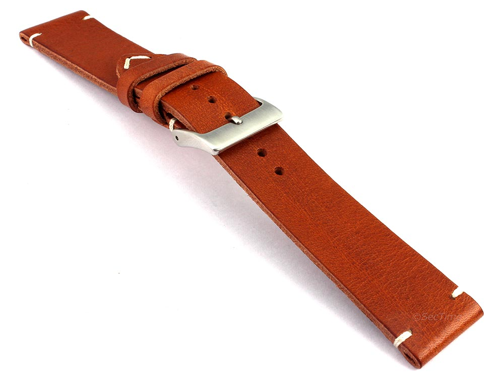 Genuine Leather Watch Strap Band Mirage Brown 03