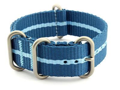 Nato Watch Strap CS Blue/L.Blue 20mm