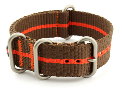 Nato Watch Strap CS Brown/Orange 20mm