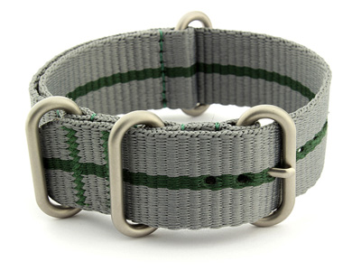 Nato Watch Strap CS Grey/Green 18mm