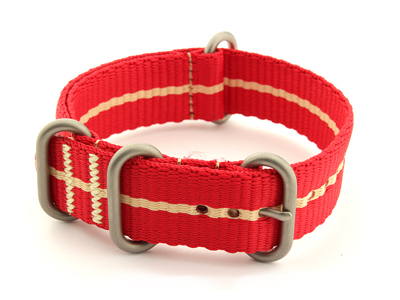 Nato Watch Strap CS Red/Cream 20mm
