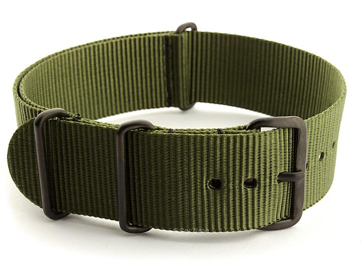 Nato G10 Nylon Watch Strap PVD Buckle Olive Green 01