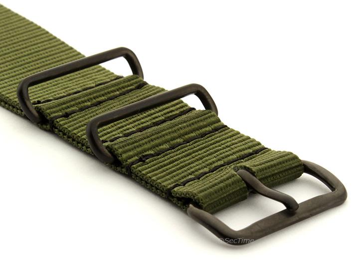Nato G10 Nylon Watch Strap PVD Buckle Olive Green 03