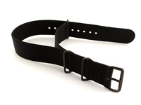 Nato G10 Nylon Watch Strap PVD Buckle Black 02