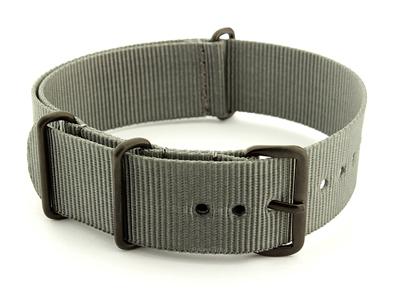 Nato G10 Nylon Watch Strap PVD Buckle Ash Grey 01