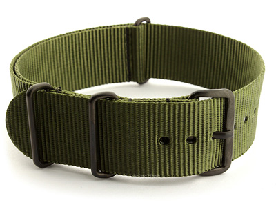 Nato G10 Nylon Watch Strap PVD Buckle Olive Green 01