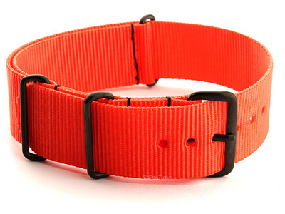 Nato G10 Nylon Watch Strap PVD Buckle Orange 01