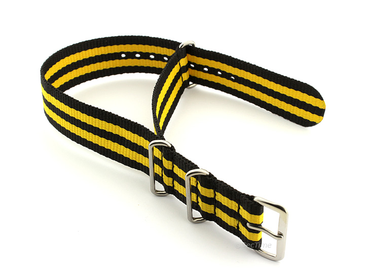 Nato Watch Strap Nylon G10 Black/Yellow (5) 02