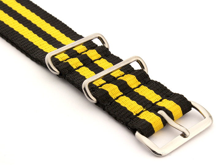 Nato Watch Strap Nylon G10 Black/Yellow (5) 03