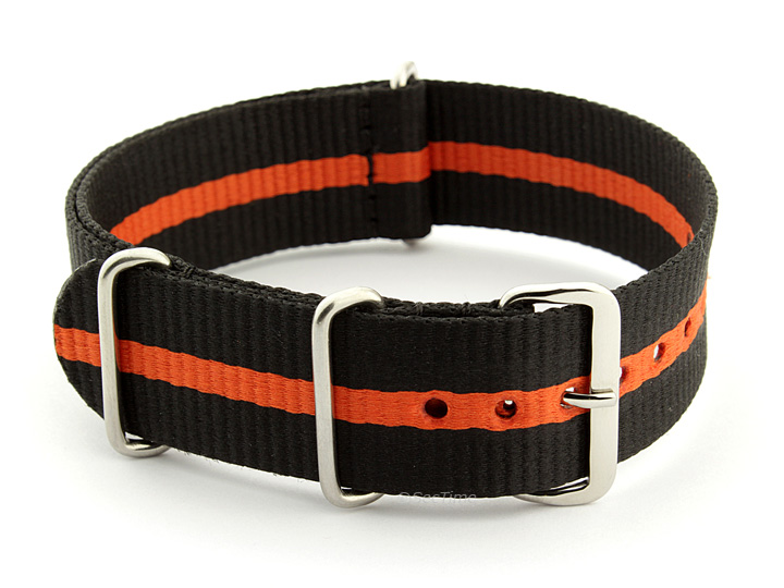 Nato Watch Strap Nylon G10 Black/Orange (3) 01