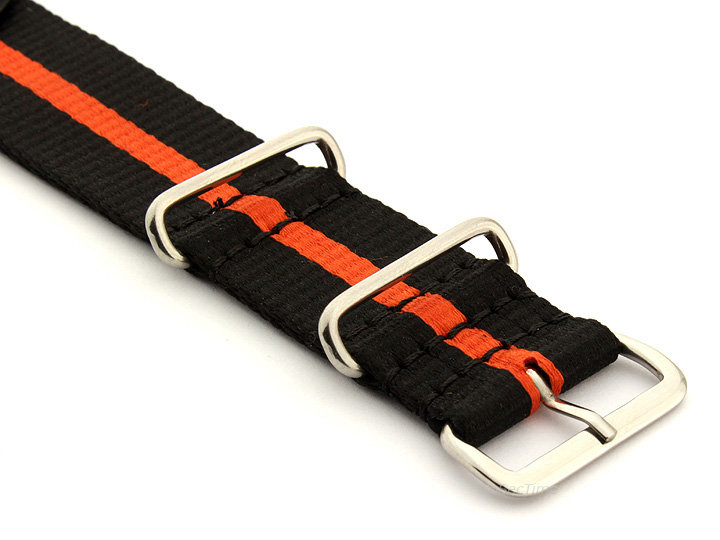 Nato Watch Strap Nylon G10 Black/Orange (3) 03