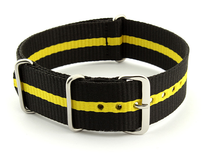 Nato Watch Strap Nylon G10 Black/Yellow (3) 01