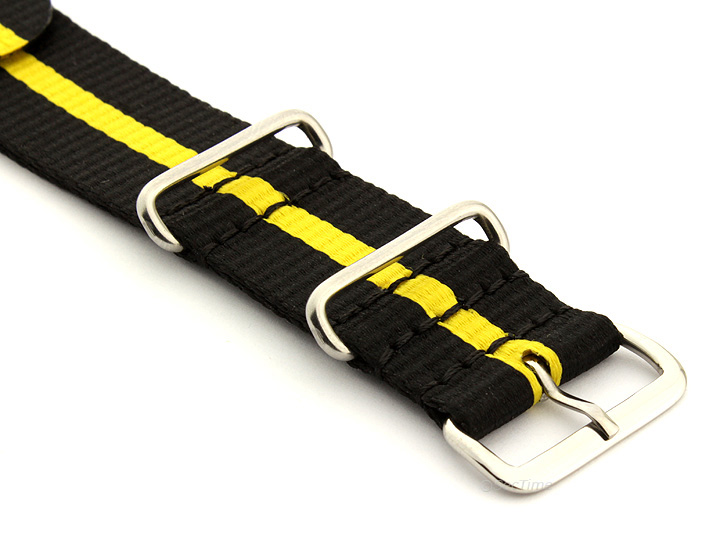 Nato Watch Strap Nylon G10 Black/Yellow (3) 03