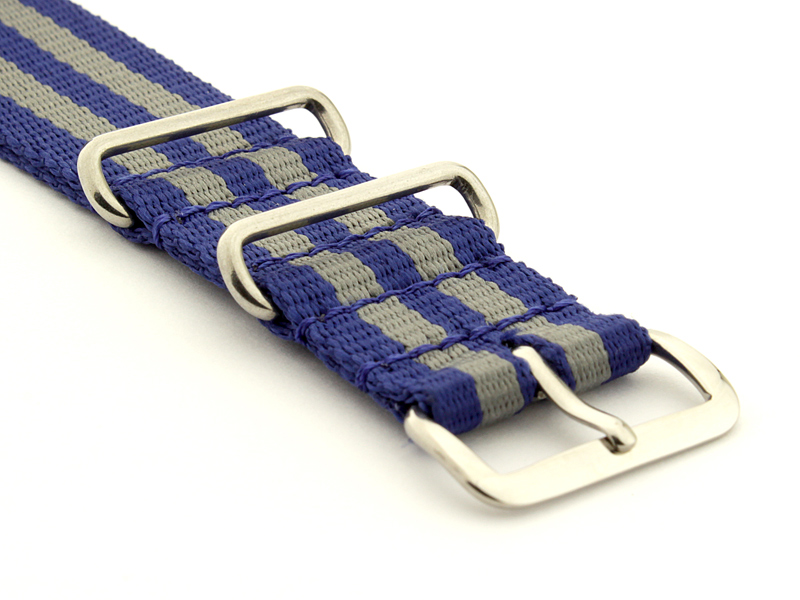 Nato Watch Strap Nylon G10 Navy Blue/Grey (5) 03