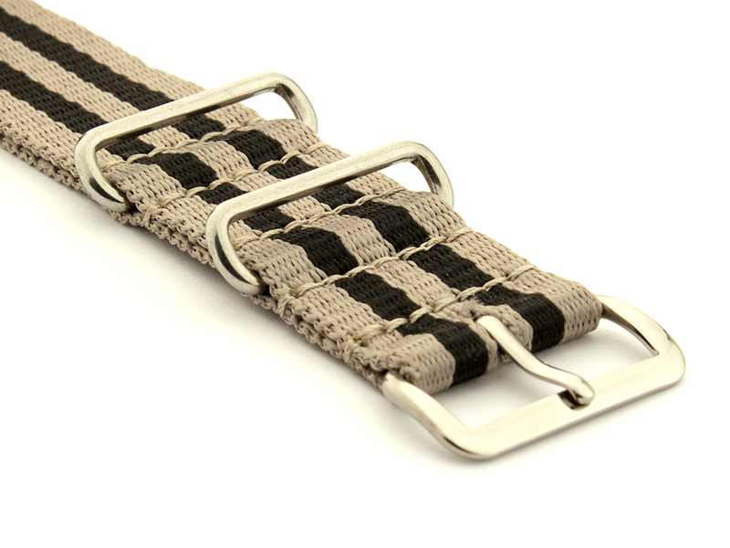 Nato Watch Strap Nylon G10 Beige/Black (5) 03