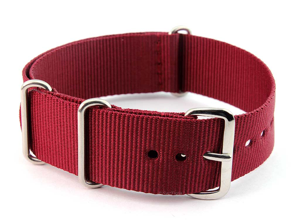 Nato Watch Strap G10 Military Nylon Divers Maroon 24mm