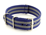 Nato Watch Strap G10 Military Nylon Divers Navy Blue/Grey (5) 24mm