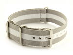 Nato Watch Strap G10 Military Nylon Divers Grey/White (3) 24mm
