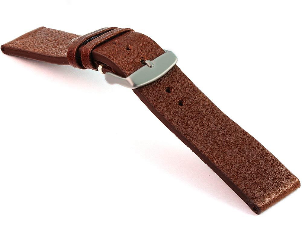Genuine Leather Watch Strap Band Prague Dark Brown 03