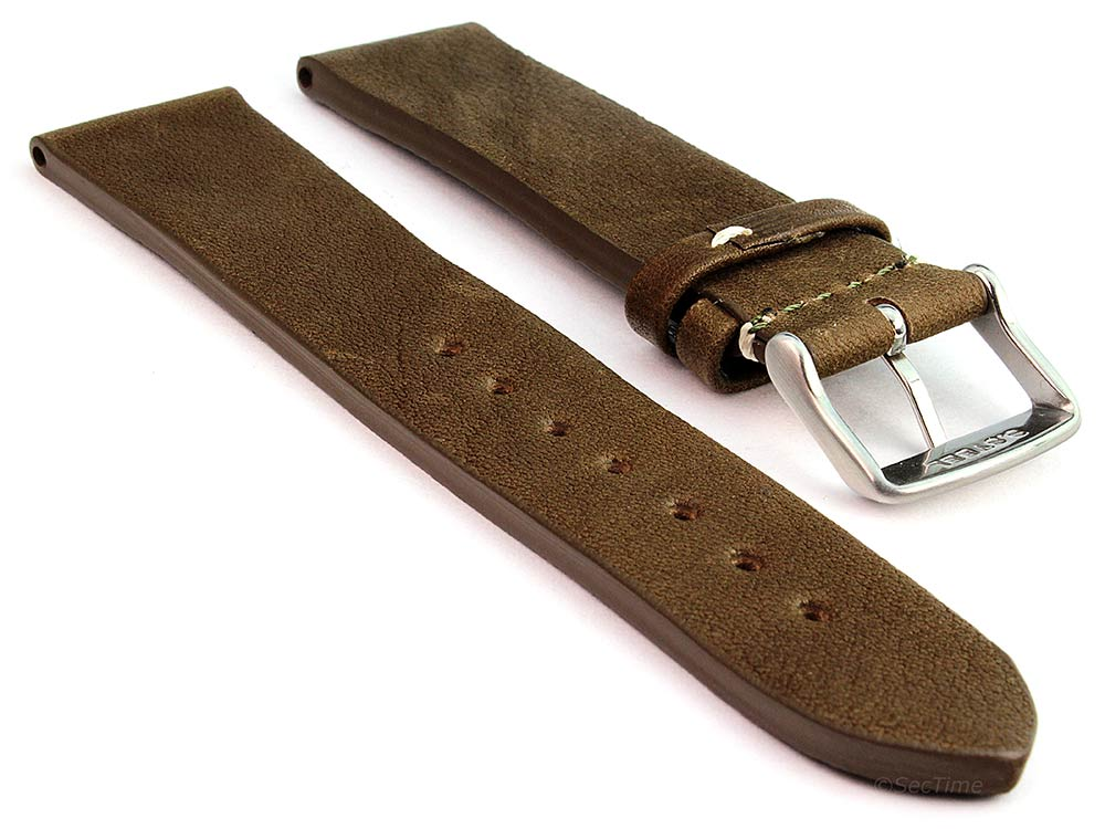 Genuine Leather Watch Strap Band Prague Coyote Brown 02